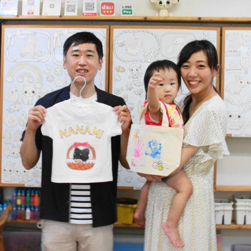 家族で作った手形トートバッグと手描きTシャツ