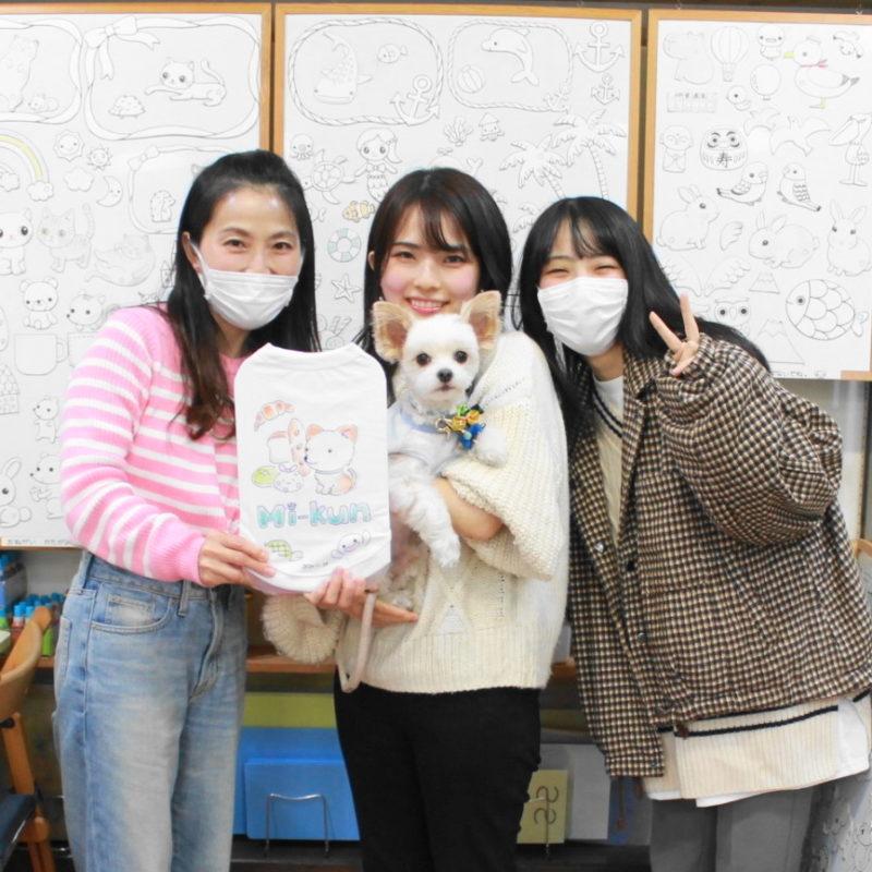 姉妹で作ったマルプーMi-Kunの手描きワンコTシャツ