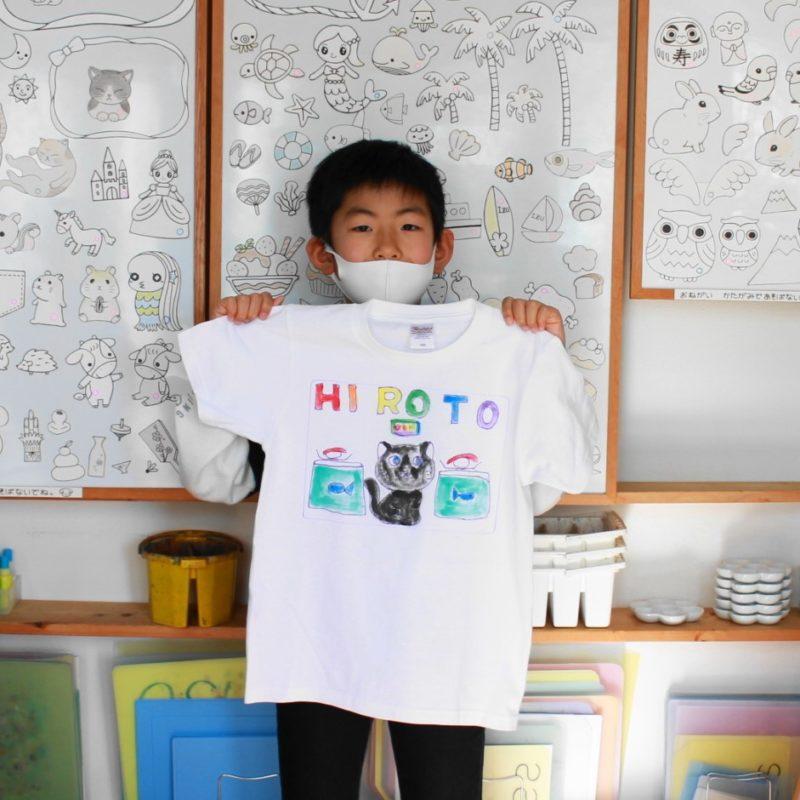 男の子が作った手描きTシャツ