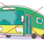 大型観光バスは進入禁止